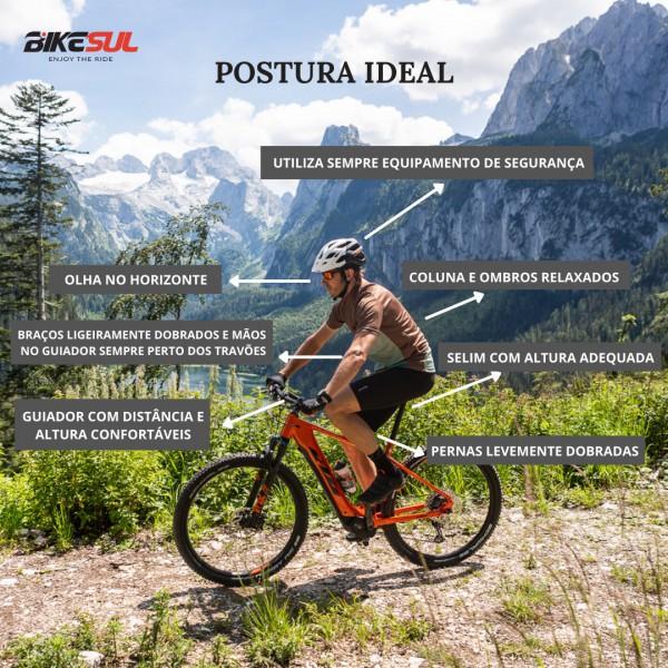 ciclista a pedalar com paisagem da natureza