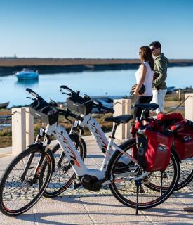 Two eletric bicycles in Santa Luzia