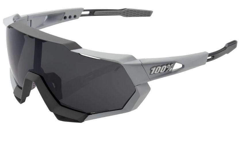 100% Speedtrap Gray Glasses Smoke Lenses