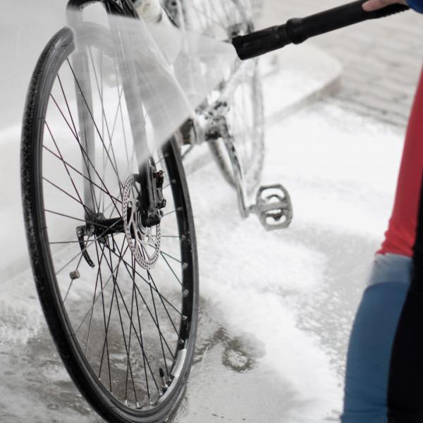 lavagem de bicicleta