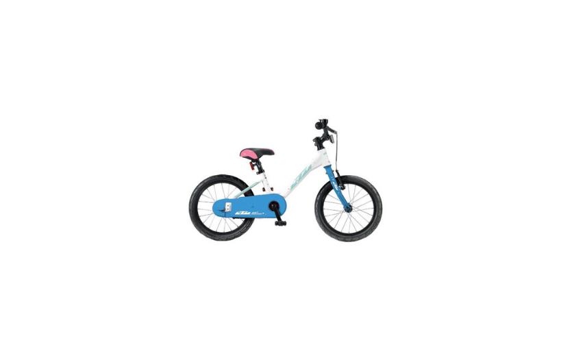 Bicicleta KTM 1.16 ONETUBE branco e azul