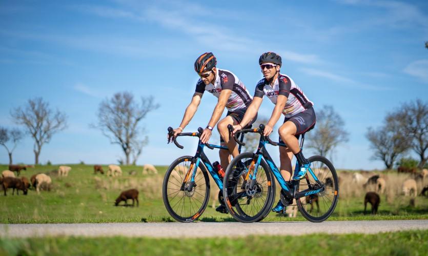 Ciclismo na zona do Barrocal Algarvio