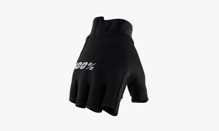 Gloves 100% Exceeda Black Without Fingers- Women
