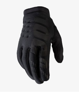 100% Brisker Gloves Black / Gray w / Fingers