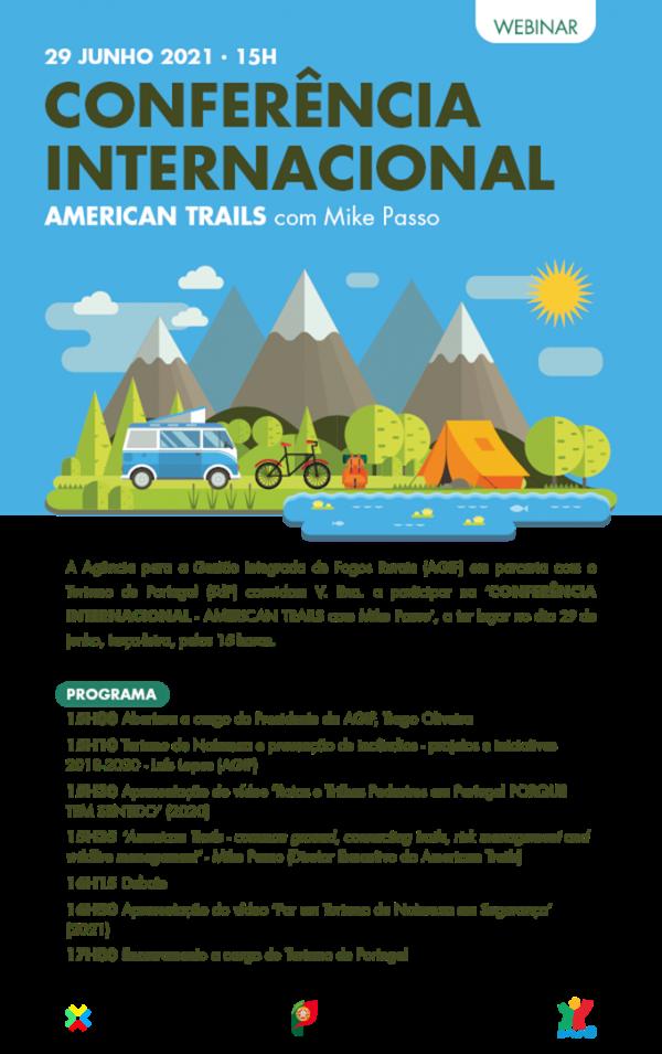programa da Conferência Internacional American Trails com Mike Passo