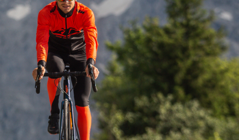 cyclist pedaling with KTM equipment