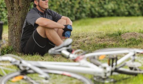 cyclist resting