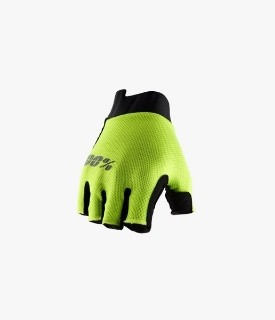Gloves 100% Exceeda Yellow Without Fingers- Women