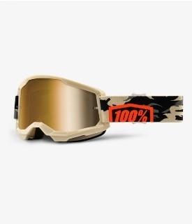 100% Strata 2 Kombat Gold Lens
