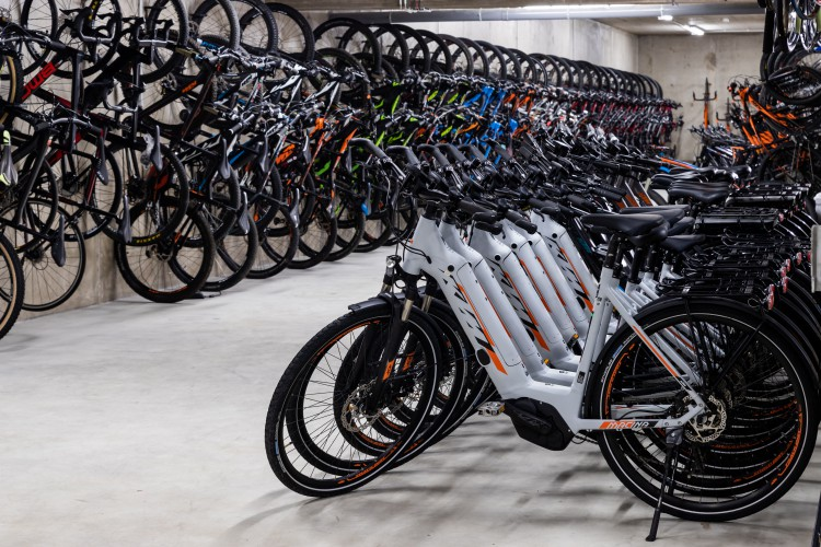 bicycles for rent at the Bikesul store
