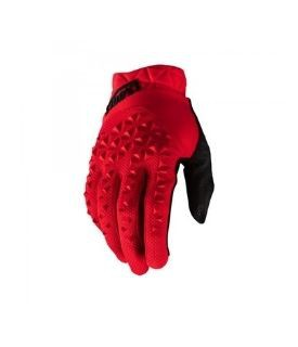 Gloves 100% Geomatic Red w / Fingers