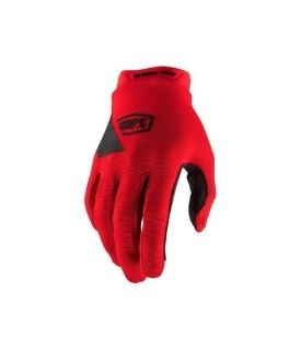 100% Ridecamp Red Gloves w / Fingers