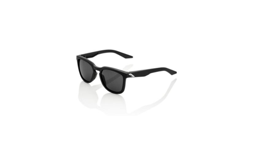 Óculos 100% Hudson Preto Lentes Smoke