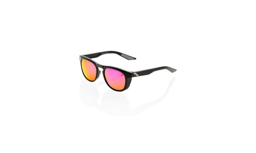 Óculos 100% Slent Preto Lentes Purple
