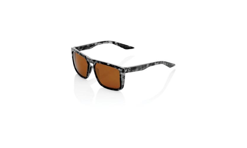 100% Renshaw Black Matt Glasses with Bronze Lenses