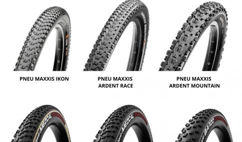 novos pneus Maxxis e Vittoria