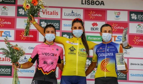 Podium of the Women's Tour of Portugal