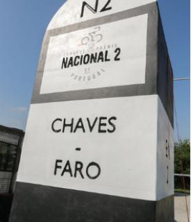 Marco da Rota N2, em Chaves