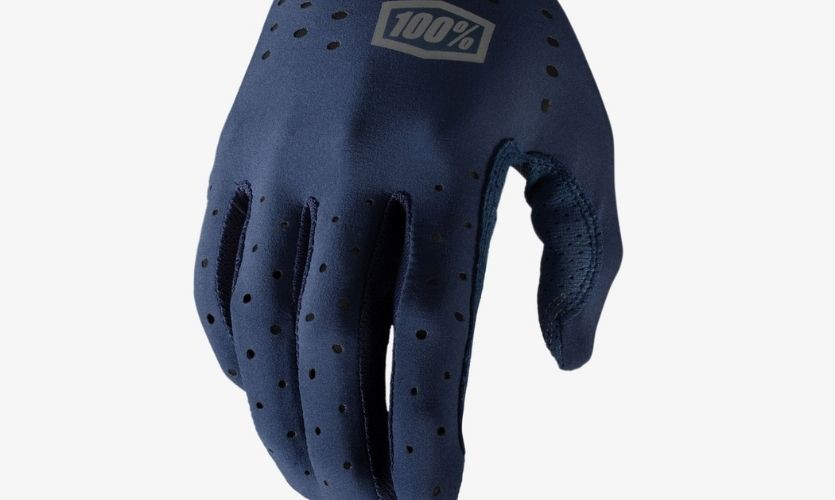 100% Blue Sling Gloves w / Fingers