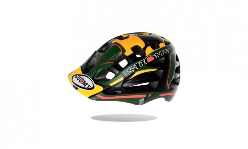 Suomy Scrambler Desert Green/Yellow Helmet