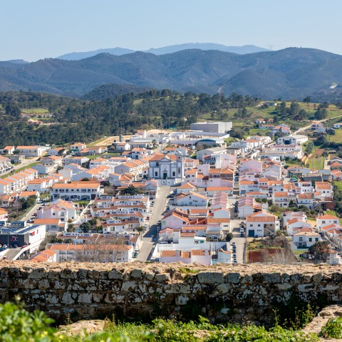 View over the village of Aljezur